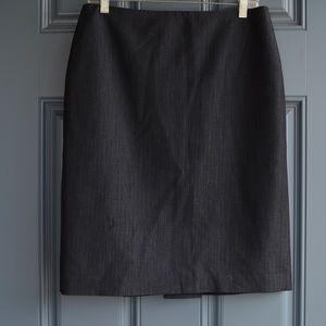 Charcoal Grey Pencil Skirt by Anne Klein Sz 10